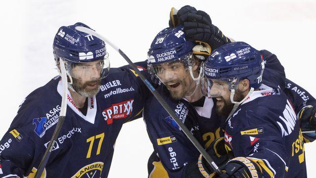 Langenthal continuera à évoluer en Swiss League la saison prochaine. [Marcel Bieri - Keystone]