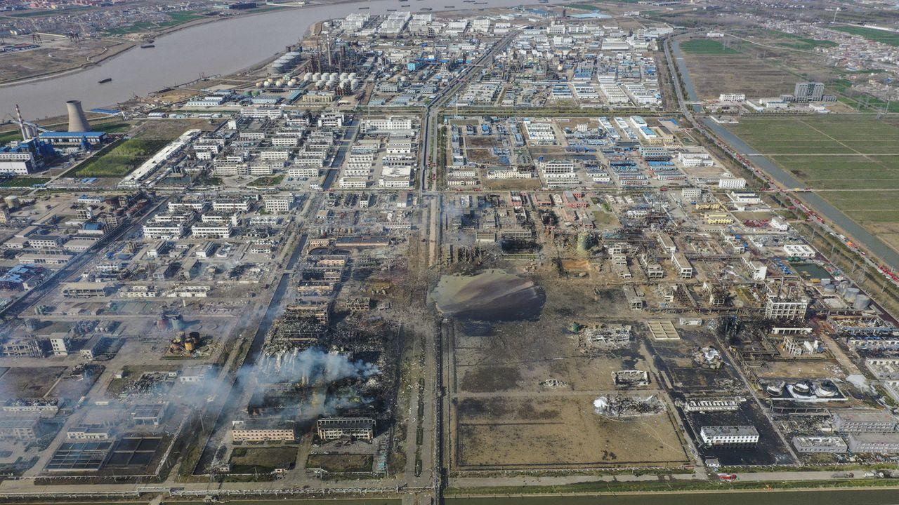 L'explosion d'une usine chimique à fait 78 morts et plus de 600 blessés à Yancheng, en Chine. [Li Bo - Xinhua via AP/Keystone]