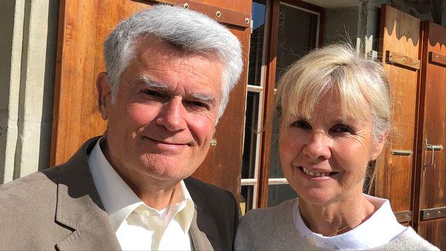 William Frei, ancien consul de Suisse à Shangaï avec son épouse, Joëlle Marie [Gabrielle Desarzens - RTSreligion]