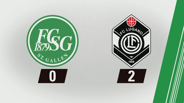 Super League, 25e journée: Saint-Gall - Lugano (0-2) [RTS]