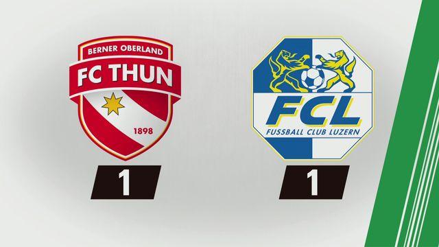 Super League, 25e journée: Thoune - Lucerne (1-1) [RTS]