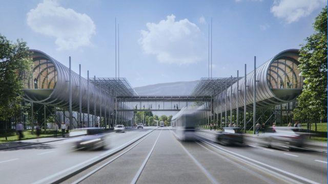 Une visualisation du futur site de la cité des sciences du CERN. [CERN]