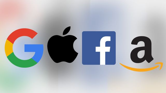 Les GAFA: Google, Apple, Facebook et Amazon.