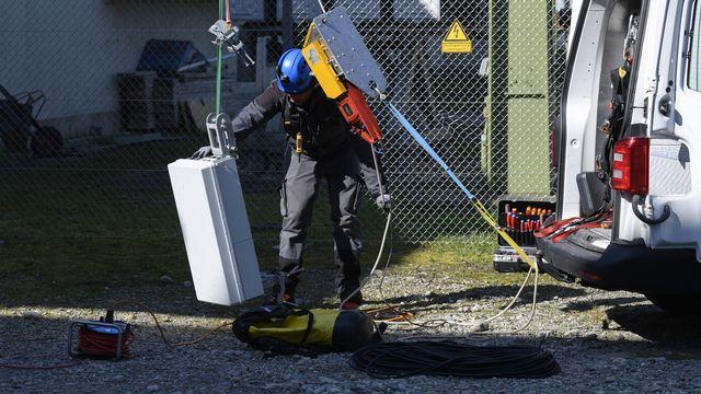 Le protocole de mesure de ces nouvelles antennes 5G n'a pas encore été développé par la Confédération. [Christian Beutler - Keystone]