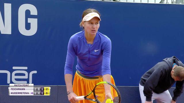 Lugano, 1e tour: J. Teichmann (SUI) battue par V. Kudermetova (RUS) au tie break (2-6, 6-4, 6-7) [RTS]