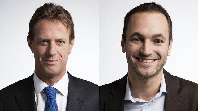 Christian Lüscher et Mathias Reynard. [Gaetan Bally - Keystone]