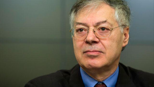 André Sapir, professeur d'économie à l'Université libre de Bruxelles et chercheur au laboratoire d'idées Bruegel. [Kristof Van Accom - Belga Mag/AFP]
