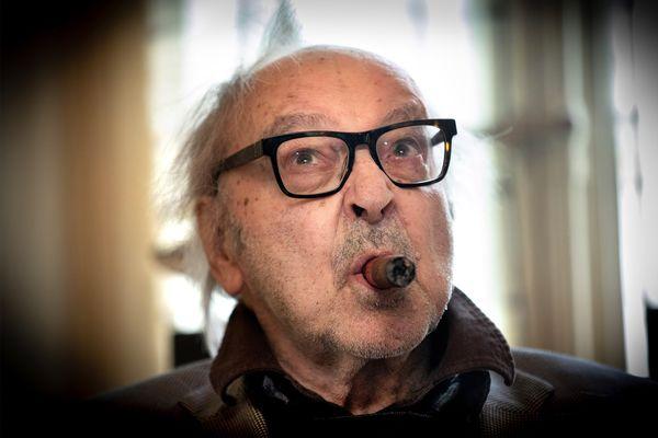 Jean-Luc Godard chez lui à Rolle (VD) le 5 avril 2019.