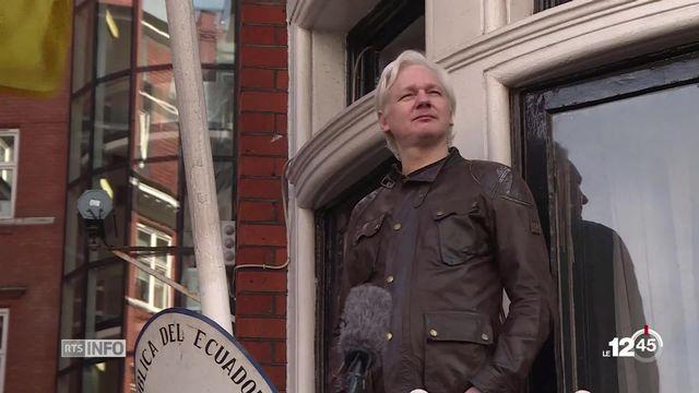 Julian Assange, fondateur de Wikileaks, arrêté par la police britannique dans l'ambassade d'Equateur à Londres. [RTS]