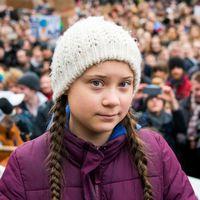 Greta Thunberg, photographiée à Hambourg, début mars 2019.