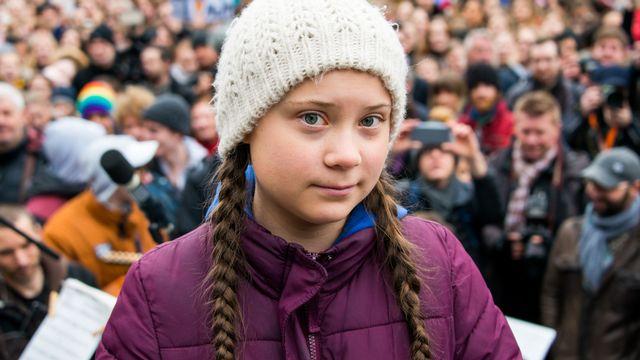 Greta Thunberg, photographiée à Hambourg, début mars 2019. [Daniel Bockwoldt - DPA/Keystone]