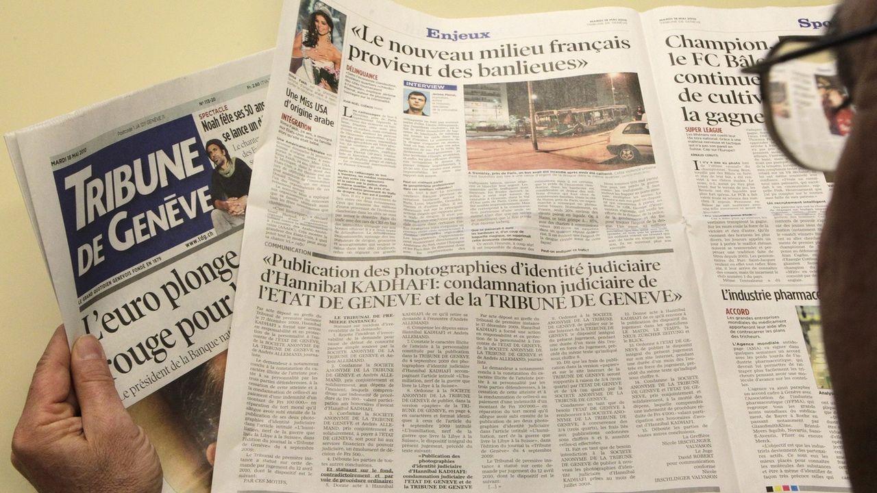 Trois journaux dont la Tribune de Genève vont bénéficier de cette numérisation. [Salvatore Di Nolfi - Keystone]