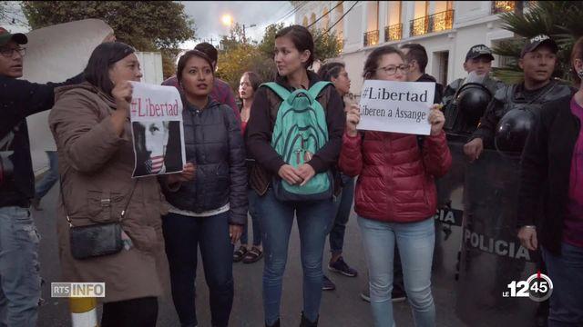 Julian Assange: l'arrestation du lanceur d'alerte provoque des réactions en Equateur. [RTS]