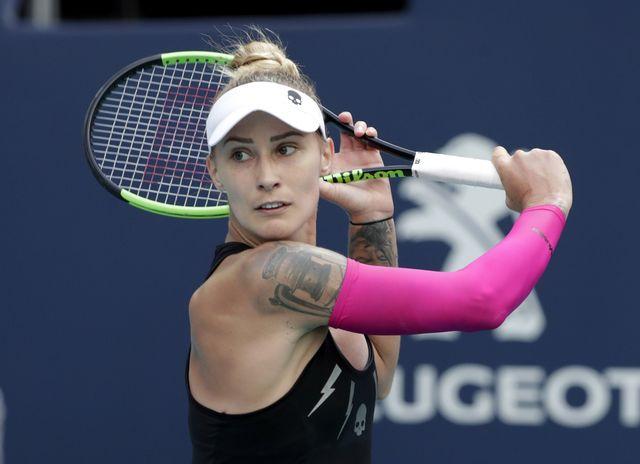 Polona Hercog jouera sa septième finale sur le circuit WTA. [Lynne Sladky - Keystone]