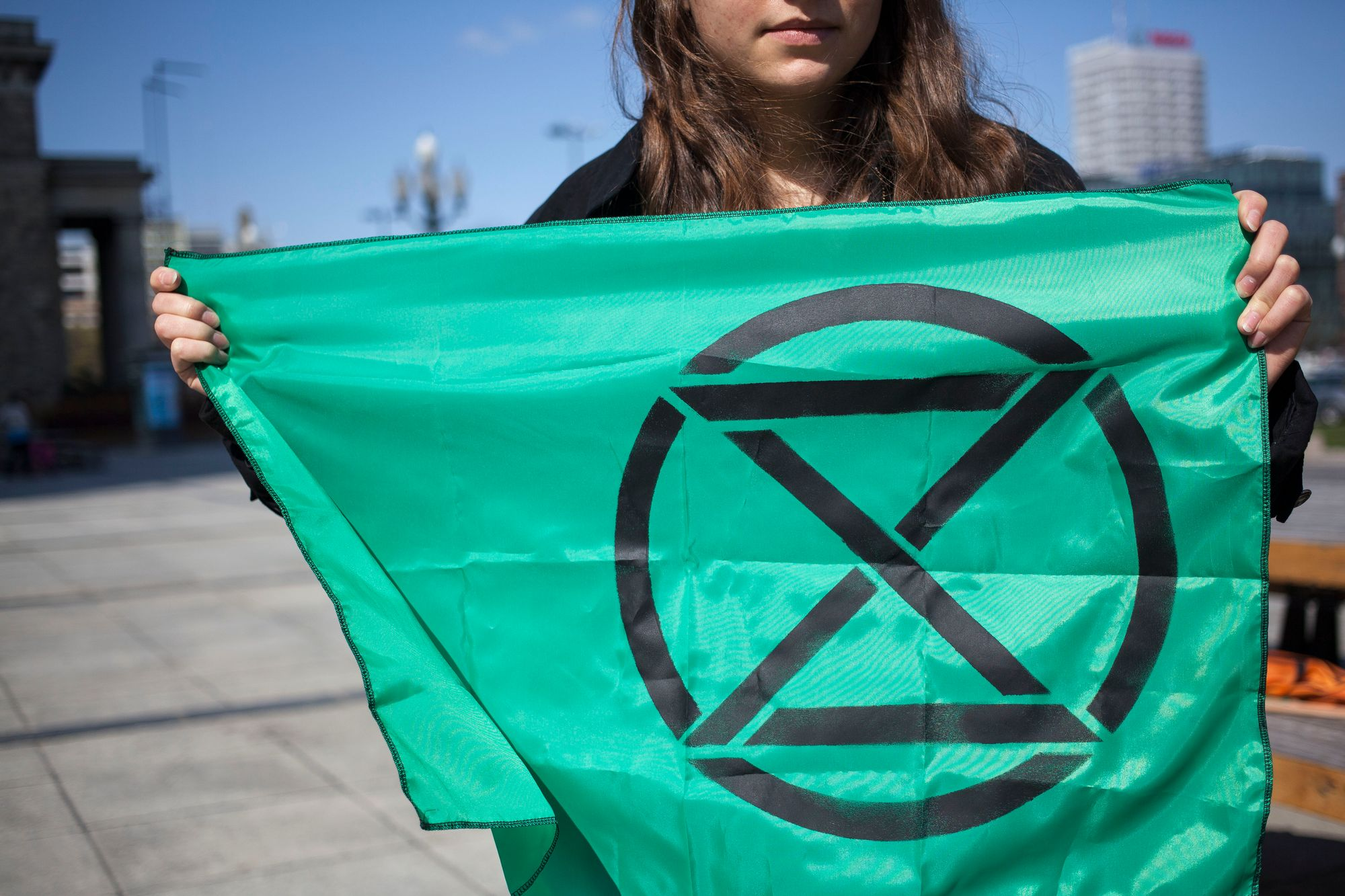 Le logo du mouvement Extinction Rebellion.