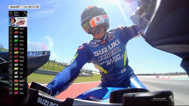 GP des Amériques (#3), Moto GP: Alex Rins (ESP) s'impose juste devant Rossi (ITA) 2e, Marques (ESP) chute [RTS]