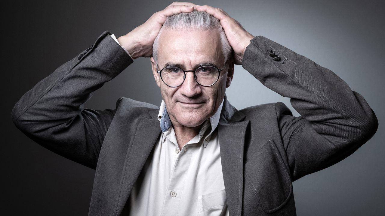 Le philosophe français André Comte-Sponville au Salon du livre de Paris le 17 mars 2019. [Joël Saget - AFP]