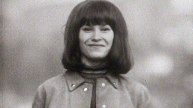 La chanteuse fribourgeoise Arlette Zola en 1967. [RTS]