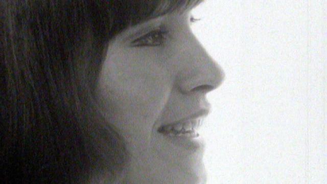 La chanteuse fribourgeoise Arlette Zola en 1969. [RTS]
