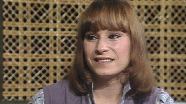 La chanteuse fribourgeoise Arlette Zola en 1980. [RTS]