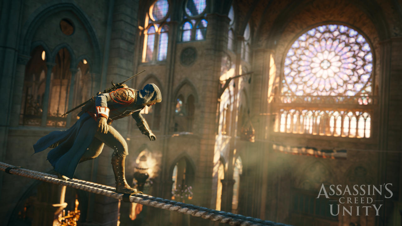 "Une capture d'écran du jeu ""Assassin's Creed Unity""."