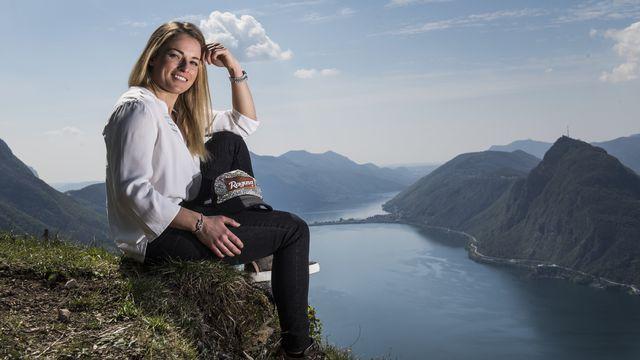 Lara Gut-Behrami avait confié la presse au Monte Brè. [Alessandro Crinari - Keystone]