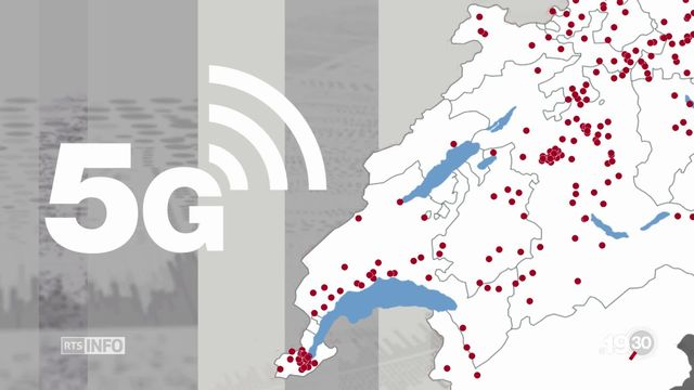 La 5G est entrée en action. Mais les réticences sont vives: le Jura vient de geler les nouvelles installations. [RTS]