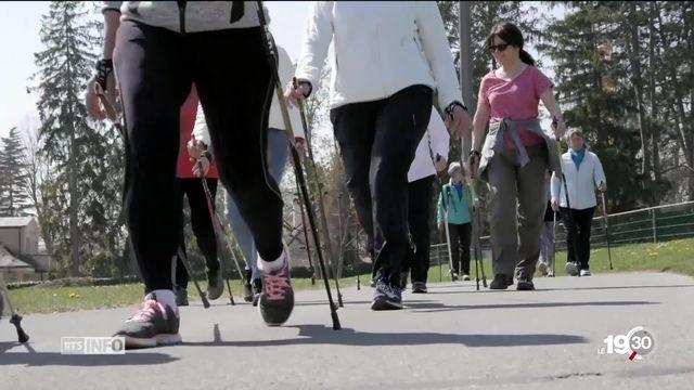 A Nyon, une association promeut le nordic walking pour rester en forme [RTS]
