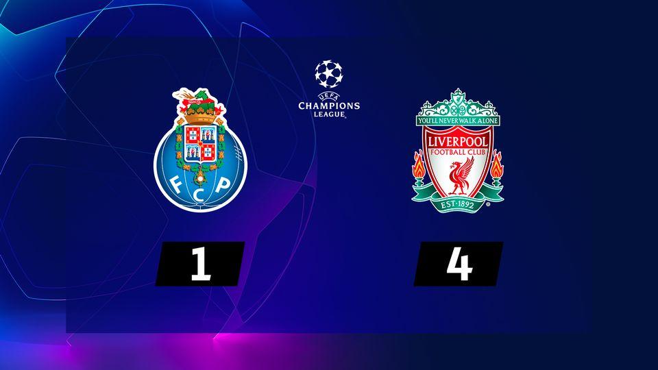1-4 retour, Porto - Liverpool (1-4): tous les buts du match