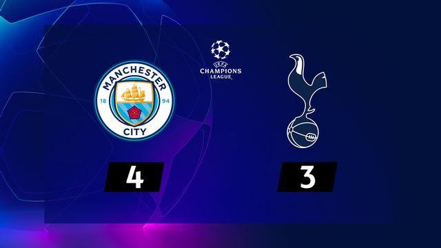 1-4 retour, Manchester City - Tottenham (4-3): les Spurs arrachent la qualification au terme d'un match complètement fou