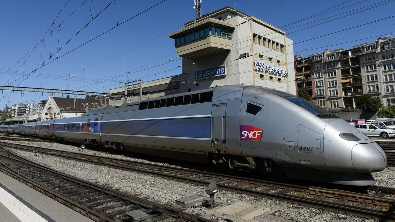 Selon le directeur de Lyria, la ligne TGV Lausanne-Paris via Vallorbe n'est pas menacée. [Laurent Gillieron - KEYSTONE]