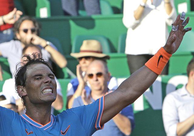 Nadal s'est fait peur contre l'Argentin Pella. [Keystone]