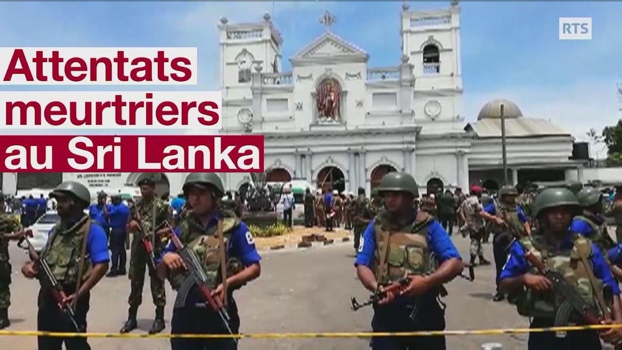 Le Sri Lanka frappé par une vague d'attentats meurtriers [RTS]