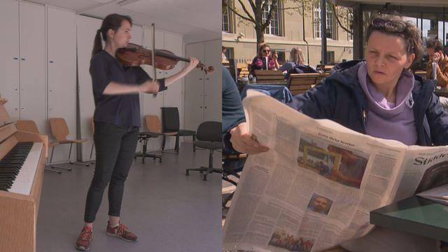 Julie Le Gac et Judith Dannhauer, deux citoyennes européennes vivant en Suisse. [DR - RTS]
