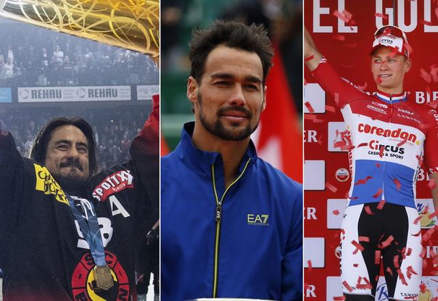 Le top 3 du week-end: le CP Berne, Fabio Fognini et Mathieu van der Poel. [M.Bieri/S.Nogier/B.Czerwinski - Keystone]