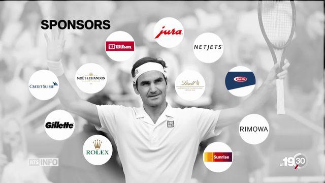 Roger Federer est le sportif qui gagne le plus d'argent grâce à la publicité. Les chiffres du business Federer. [RTS]