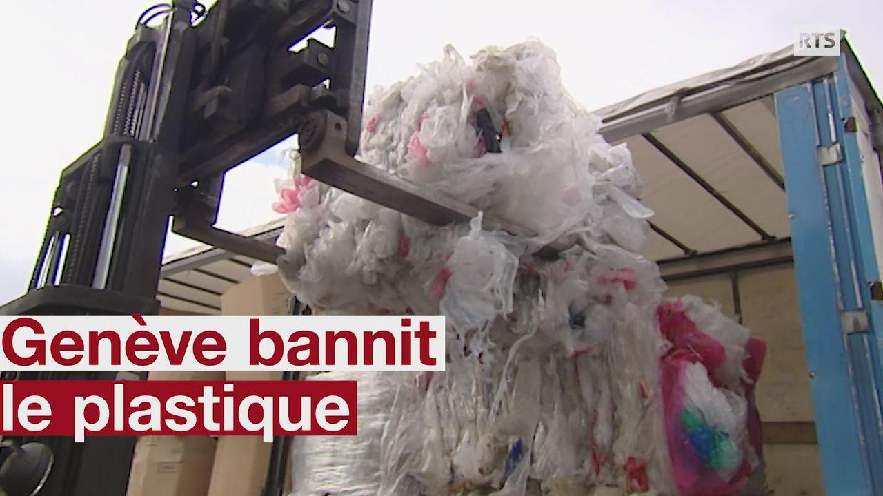 Le plastique à usage unique sera banni de la Ville de Genève dès 2020 [RTS]