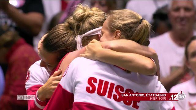 En tennis, les Suissesses éliminées en Fed Cup [RTS]