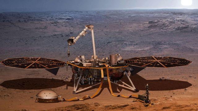 Le sismomètre SEIS (Seismic Experiment for Interior Structure) fait partie de la sonde InSight. [EPFZ]