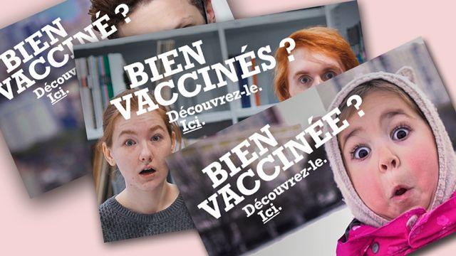 Quelques images issues de la campagne pour le carnet de vaccination électronique. [OFSP - Confédération]