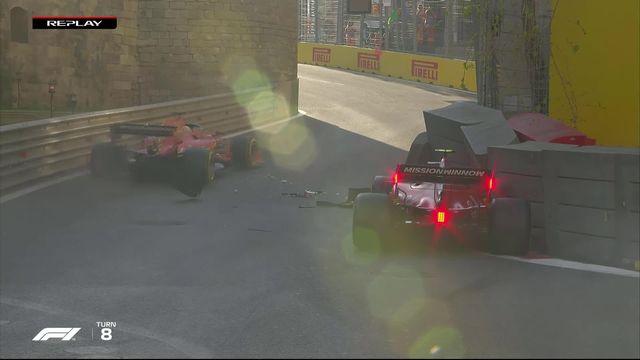 GP d'Azerbaïdjan (#4), Q2: Charles Leclerc (MON) à la faute au même endroit que Kubica [RTS]