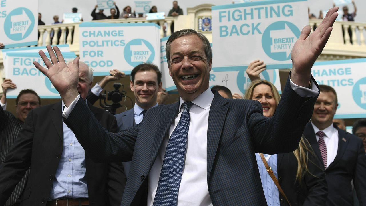 Rallye du parti du Brexit à Clacton on Sea. [Joe Giddens - PA via AP/Keystone ]