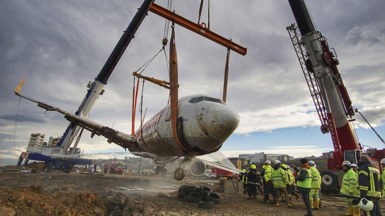 Un Boeing 737 de la compagnie turque Pegasus Airlines. [Turkay Albayak - Keystone]