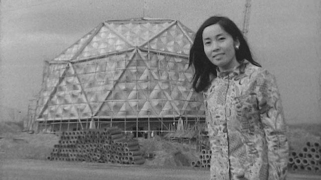 Le chantier de l'Exposition universelle d'Osaka en 1969. [RTS]