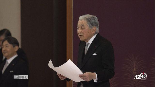 Cérémonie d'abdication au Japon. L'empereur Akihito met fin à 30 ans de l'ère Heisei. [RTS]