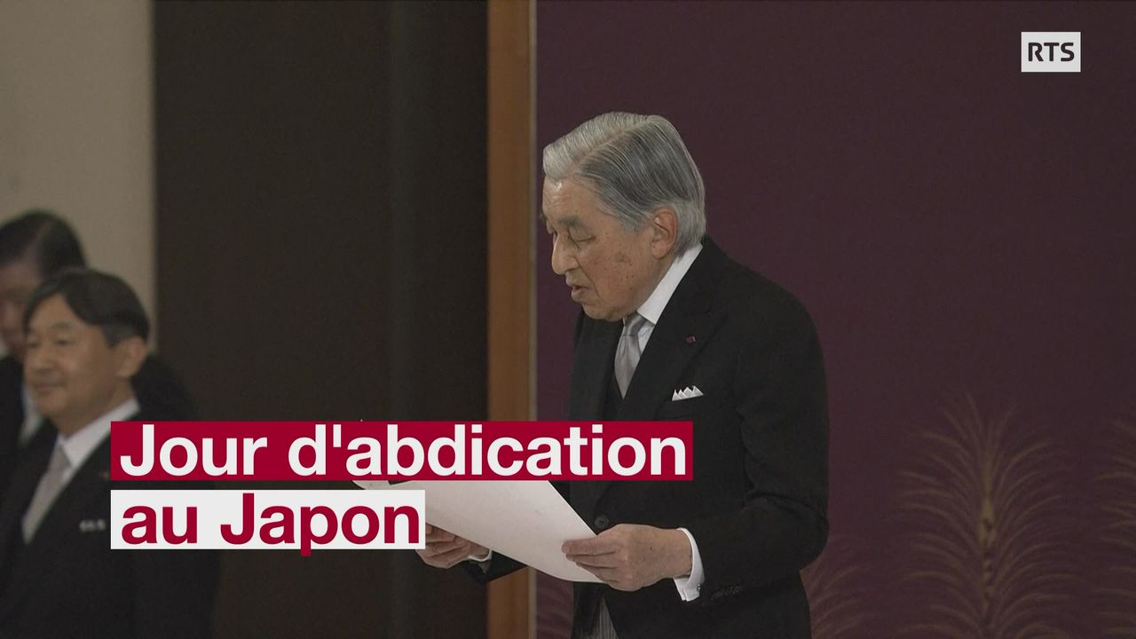 L'empereur Akihito cède le trône du Japon au prince héritier Naruhito [RTS]