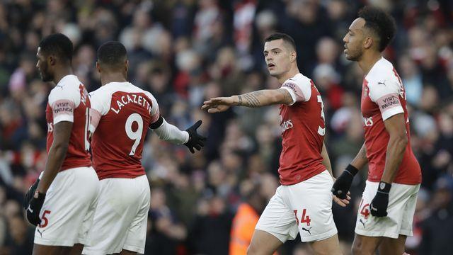 Granit Xhaka et Arsenal espèrent sauver leur saison avec l'Europa League. [Kirsty Wigglesworth - Keystone]