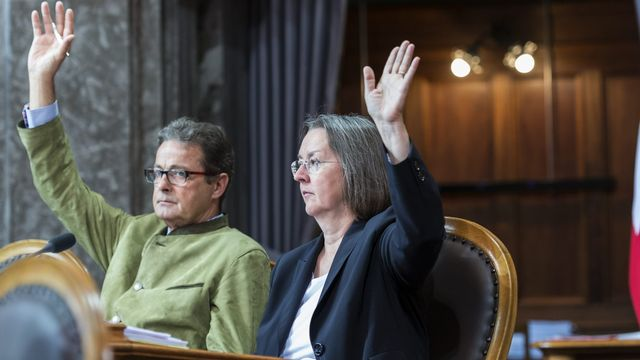 Jean-René Fournier et Anne Seydoux vont aussi quitter le Conseil des Etats. [Alessandro della Valle - Keystone]