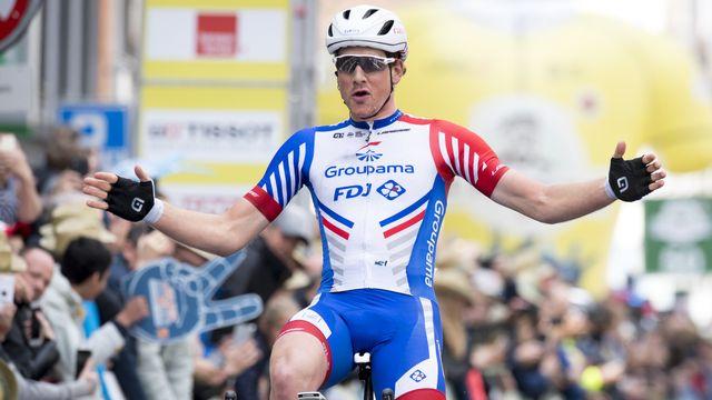 Stefan Küng a signé son 2e succès de la saison après une victoire sur le Tour d'Algarve en février. [Laurent Gillieron - Keystone]