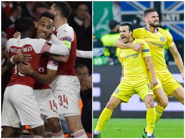 Arsenal et Chelsea pourraient se retrouver le 29 mai en finale à Bakou. [K.Wigglesworth/U.Anspach - Keystone]